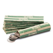 10 COIN WRAPPERS FOR DIMES - pack of 10 - $1.79