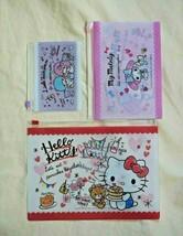 Sanrio Japan Hello Kitty Snack Food Set of 3 Plastic Zipper Folders Mask... - $14.80