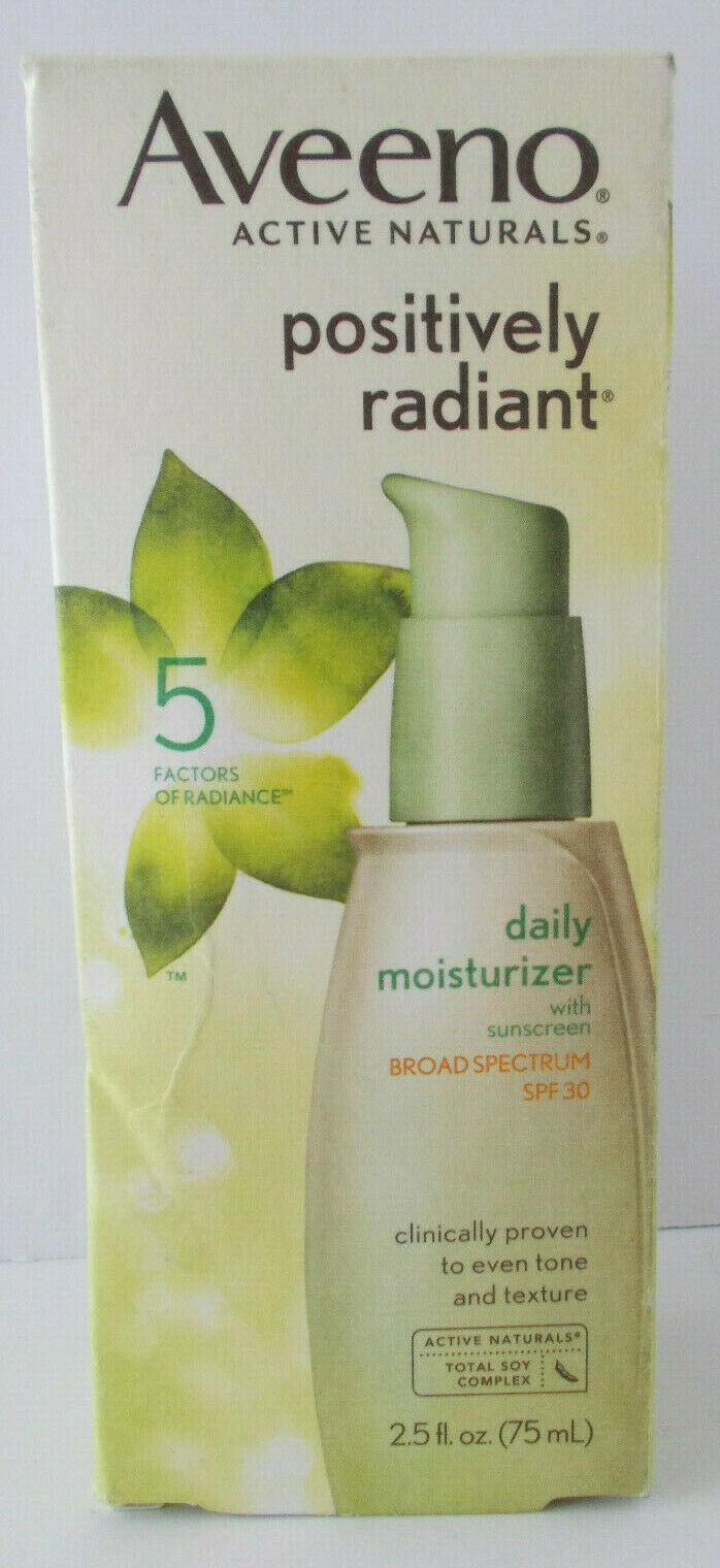 Aveeno Positively Radiant 5 Factors Of Radiance Moisturizer SPF 30 2.5oz
