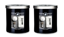 Goose Creek Fresh Shave Scented Large 2 Wick Candle 16 oz x2 - $58.50