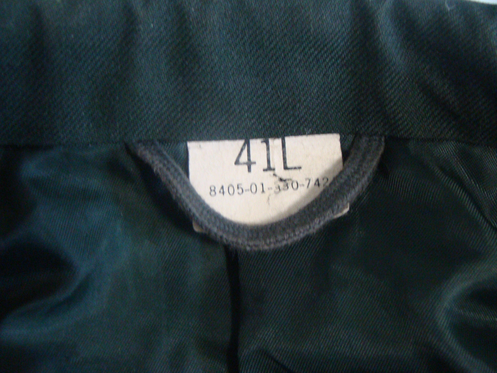 Vintage DeRossi & Son US Army Military Green Coat Mens