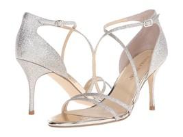 Ivanka Trump ITGARIS2 Silver Platino Strappy Dress Heels Sandals 8 M NEW SALE - $49.50
