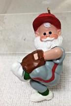 1989 Hallmark Christmas Ornament Heres The Pitch Santa Good Shape w Box  H20 - $12.38