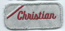 Christian name tag patch 1-5/8 X 3-5/8 - $4.50