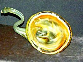 Hand Blown Glass Swan AB 129 Vintage image 5