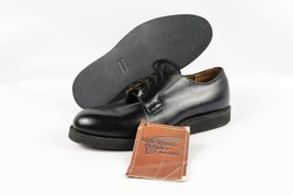 Vintage Nuovo Red Wing Shoes Uomo 8.5 D Postino Oxford Chaparral pelle Nero - $343.87