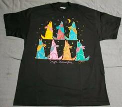 Vintage 1988 Jeff Low Coyote Chorus Line Black Graphic Large T-Shirt Dea... - $48.71