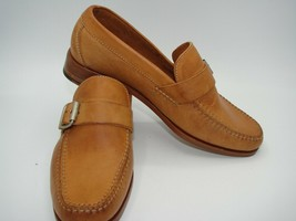 NWOB Women's Cole Haan Slip-on Tan Leather/Buckle Loafers, Mini stacked ... - $47.67