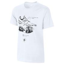 NIKE Tri-Blend Huarache Sketch T-Shirt sz XL X-Large White Black Elite T... - $34.99