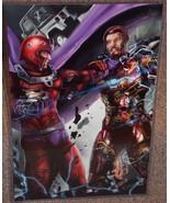 Avengers Iron Man vs X-MEN Magneto Glossy Art Print 11x17 In Hard Plasti... - $24.99