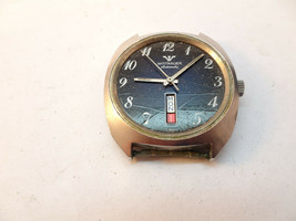 Rare Wittnauer D11KAS-2 Day Date At 6 Automatic Steel Watch Runs For Restoration - $145.00