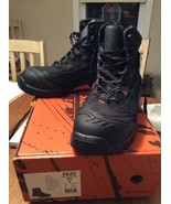 New in Box Worx by Red Wing 5622 Men's Leather Black Work Boots Size 9 M - $109.95
