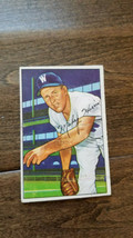 1952 BOWMAN BASEBALL CARD MICKEY HARRIS WASHINGTON SENATORS RED SOX # 135 - $7.99