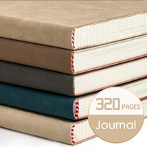 A5 PU Leather Vintage Journal Notebook Grid Blank Paper Diary Planner 32... - $29.49