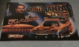 WWF WWE 2001-2002 The Rock Stone Cold Angle Wrestling Calendar Ad Slick ... - $12.50