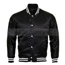 Letterman Baseball College Varsity Bomber Jacket Sports Wear Quality Bla... - $49.98+