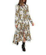 Free People Tough Love Printed Maxi Shirtdress Ivory Dress - $109.99