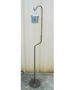 Shepherds Hook Planter or Ashtray Portable Adjustable Cast Iron Floral W... - $33.99