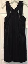 NWT Jax Black Criss Cross Sheath Cocktail Dress Sz 12 Shiny Bubble Hem P... - $32.71