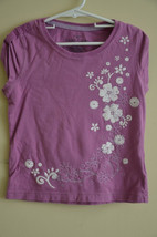 Faded Glory 100% Organic Cotton Girls Shirt Sleeveless Purple Size 6/6X Everyday - $3.99