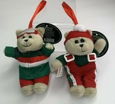 Starbucks 2019 Bearista Bears Christmas Holiday Plush Ornament set of 2 NEW - $23.52