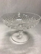 Vintage WATERFORD  crystal open pedestal bowl compote Mid Century marked... - $39.54