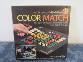 Ideal Color Match Color Card Game Rubik's Cube 1982 Complete - $14.91