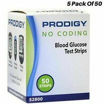 Blood Glucose Test Strips, No Coding Required with All Prodigy Meters, 250 Count - $31.55