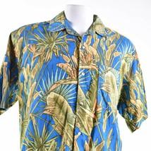 Joe Marlin Leaves Fronds Large Hawaiian Aloha Shirt - $19.79