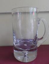 Clear Glass Crystal Beer Stein Mug Bubble Base Tankard - $19.79
