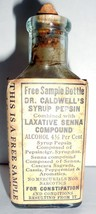 Vintage Laxative Constipation Dr. Caldwell's Compound Glass Bottle - $4.99