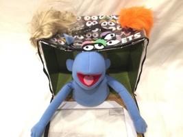 Disney The Muppets Blue Hand Puppet FAO Schwartz Whatnot Workshop In Box - $79.19