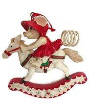Merry Chrismouse on Rocking Horse Ornament by Kurt S Adler (Girl) - $17.50