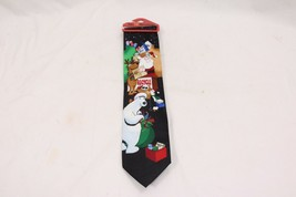 Christmas Tie Hallmark Yule Tie Greetings Recycle - $19.11