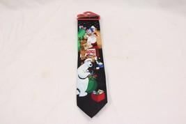 Christmas Tie Hallmark Yule Tie Greetings Recycle - $19.11
