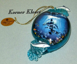 "Bradford Exchange ""Above & Below"" Ornament - ""The Sacred Pool"" Dolphins - $33.81"