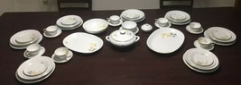 Vintage Thomas Germany Rosenthal Fine Bone China 56 Pcs Very Rare Pattern VHTF - $799.72
