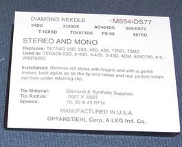 M854-DS77 NEEDLE STYLUS for Tetrad T2MD T3MD 11D 22D Tetrad 23D 43D N804-sd image 2