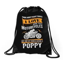 Motorcycles Poppy Drawstring Bags - $30.00