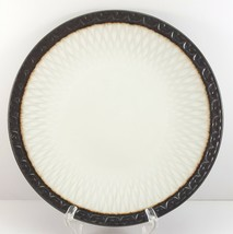 "Mikasa Sorrento Salad Plate 8"" White and Charcoal Stoneware Embossed - $8.91"
