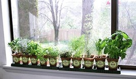 Sustainable Seed Company Windowsill Herb Garden Kit, Indoor Herb Garden ... - $52.35