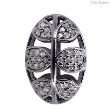 925 Sterling Silver Natural 0.45 Ct Diamond Spacer Bead Finding Jewelry ... - $144.61
