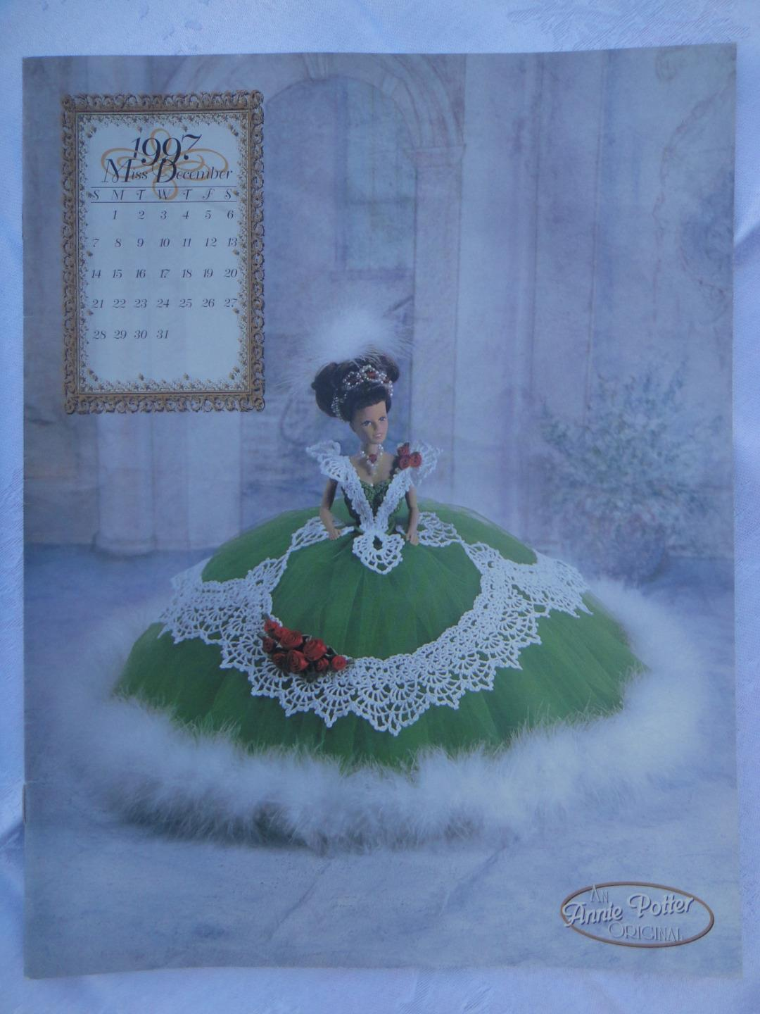 Primary image for ANNIE POTTER ORIGINAL CROCHET 1997 MISS DECEMBER Doll Costume Pattern