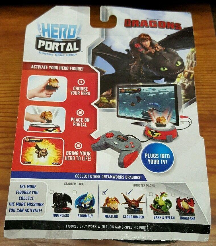 Jakks Pacific Hero Port 2 pack Dragons Meatlug Cloud Jumper New in Package