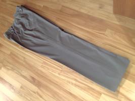 Larry Levine Button Trim Stretch Flared Leg Dress Pants Dark Taupe Size 12 - $17.75
