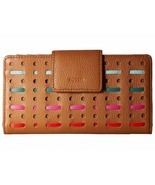 New Fossil Women Emma Tab Rfid Leather Clutch Wallet Variety Colors - $59.41+