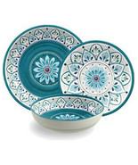 Moroccan Medallion 12 Melamine Dinnerware Set by TarHong - $118.69