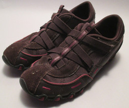 Skechers Womens 7.5 M Leather & Fabric Sneakers,Walking Shoes,Arch Suppo... - £13.16 GBP
