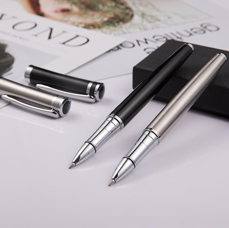 Montbao Luxury metal pen all steel rollerball Pen stationery executive office su