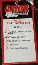 Gator Cases GP007A Black Fur Lined Nylon Drum Stick And Percussion Mallet Case image 4
